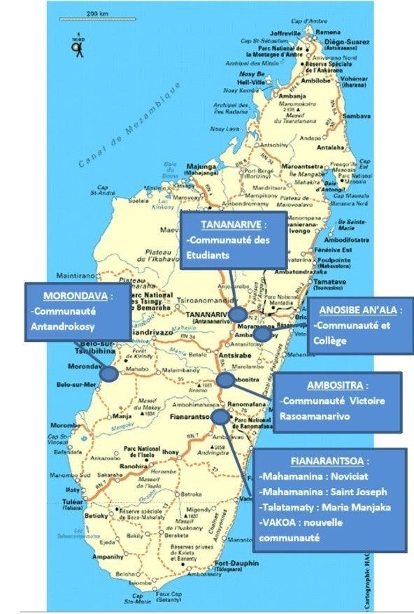 carte des communautés